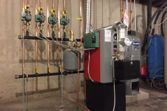 Complete whole house heating system, 4 zones of heat and hot water.